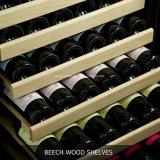 122 бутылки определяют холодильники вина зоны Built-in польностью стеклянной используемые дверью