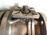 Шариковый клапан фланца 2PC DIN нержавеющей стали бросания с полным портом