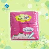 Serviette hygiénique biodégradable du coton 100 de qualité avec l'ion négatif