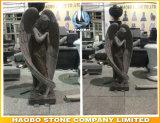 Gekleurde Grijs van het Beeldhouwwerk van de Engel van het graniet het nietGodsdienstige