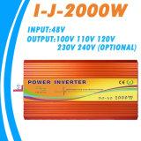 110V/260V 순수한 정현 변환장치 50/60Hz I-J-2000W-12V/24V-220V에 2kw 12V/24V/