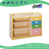 Детский сад мебелью светлой цветовой деревянные перегородки полки (HG-5401)