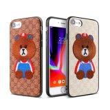 iPhone Xの電話卸売のためのかわいい刺繍されたくまデザイン携帯電話の箱