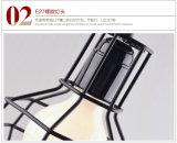 Lampada Pendant dell'annata tre della gabbia chiara creativa capa della gabbia LED