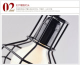 Tres cabezas creativas Vintage jaula la jaula de luz LED lámpara colgante