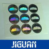 Collant anticontrefaçon d'hologramme de garantie des prix d'impression de logo de conformité bon marché de dessus