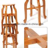 Tamborete moderno do tamborete de madeira de bambu que veste o tamborete redondo do tamborete (M-X2032)