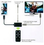 Mhl HDMI HDTV zum Adapter mit Fernsteuerungs für Anmerkung 2 HTC der Samsung-Galaxie-S2 S3 S4