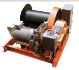 持ち上がる貨物に鉱山に使用する電気記録のウィンチ