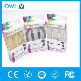 Тонкий кабель от 3.5mm до 3.5mm эластичный тональнозвуковой с пакетом