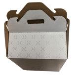 Белый пользовательские коробку из гофрированного картона с ручкой
