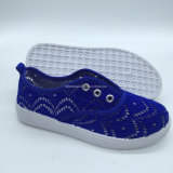 Новая конструкция детей ЭБУ системы впрыска Canvas обувь повседневная обувь (ZL0111-3)