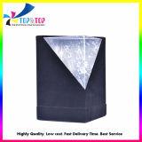 Caixas de embalagem pretas luxuosas do papel de veludo para velas