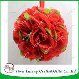 결혼식과 당 판매를 위한 인공적인 로즈 꽃 공 또는 공 꽃