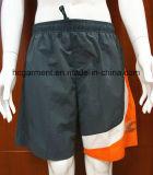 Os esportes arfam rapidamente os Shorts de nylon da placa do poliéster seco para o homem