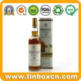 Boîte en fer blanc en métal carré de whiskey pour le cadre de empaquetage de bouteille de vin