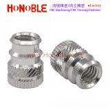 Noix en aluminium de garniture intérieure filetée pour des plastiques