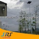 indicatore luminoso di via solare d'acciaio galvanizzato Hot-DIP del Palo del doppio braccio 30W