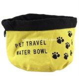 Ciotole dell'alimento e dell'acqua di cane, ciotola di viaggio di nylon dell'animale domestico