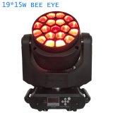 grande B lumière principale mobile d'étape de l'oeil DEL de 19X15watts