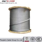 Câble métallique d'acier inoxydable galvanisé ou