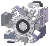 Lathe CNC точности с затяжелителем Gantry в роторном Workstocker