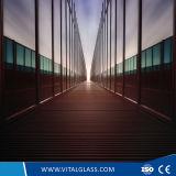 Glas des Kabinendach-Glas-/Balustrade/verbog ausgeglichenes Glas/lamelliertes Glas/farbiges abgehärtetes kugelsicheres Glas/frei/Milch/weißes lamelliertes Glas