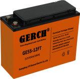 12V 55ah 84 ah batería de plomo recargable sellada serie terminal delantera de 100 ah VRLA