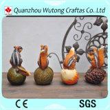 Decoração animal do jardim do esquilo da resina dos Figurines do jardim da resina mini