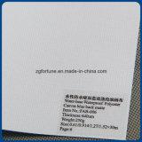 China Proveedor de la base de agua de lona de poliéster impermeable con dorso azul mate para la impresión digital