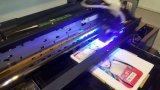 Tinta de impresora ULTRAVIOLETA de inyección de tinta de la impresora ULTRAVIOLETA plana de Digitaces, LED ULTRAVIOLETA que cura la máquina, impresión de la tarjeta Visa del PVC