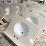 Building Material OEM White Granite Artificial Stone Bathroom Vanity Signal