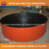 Plaque d'usure de carbure de chrome pour le dispositif fulminant de sable