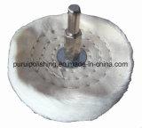 Roue de polissage de polissage montée de coton de point pour le métal