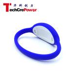 Wristband близости NFC силикона логоса 125kHz/13.56MHz OEM, подгонянный браслет RFID - синь F08