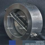 鋳鉄またはステンレス鋼のラグナットの二重版のウエファーの小切手弁