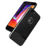 iPhone 7plus /8plusのためのTPUカーボンファイバーの革電話箱