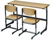 Escritorio y silla incombustibles de los muebles de escuela del precio bajo de la alta calidad de Sf-09d