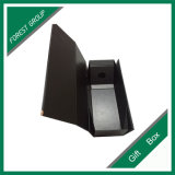 رفاهيّة ورق مقوّى أسود يطوي خمر صندوق