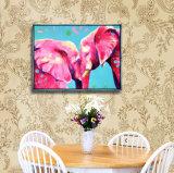 جدار فنية زيت نوع خيش صورة زيتيّة صورة حيوانيّ مع إطار لأنّ زخرفة بيضيّة