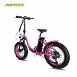 De mayor venta de neumáticos Ebike Fat nieve montaña bicicleta eléctrica para dama
