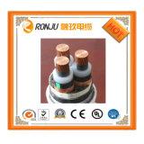Isolamento de PVC com núcleo de cobre blindado de condutores múltiplos de fios e cabos eléctricos