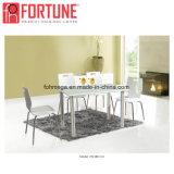 스테인리스 다리 (FOH-BC39)를 가진 특별한 나무로 되는 뒤 직물 방석 대중음식점 테이블 의자