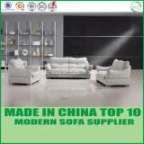 Sofà moderno del cuoio dell'ufficio di disegno del cinese impostato con il blocco per grafici di legno