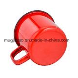 Color sólido de la taza del esmalte al aire libre de acero de la taza que acampa