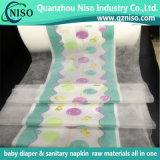 Breathable weiche Baumwolle Backsheet mit nassem Anzeiger für Baby-Windel