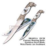 Ручка 35cm волка ножа выживания ножей звероловства волка тактическая