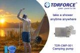 재충전 전지를 가진 휴대용 야영 샤워 펌프 시스템