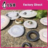 Gommini di protezione lucidi del tasto dell'occhiello del metallo piano di figura di alta qualità per la decorazione