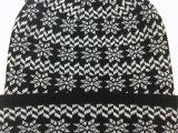 Детская одежда для женщин и мужчин из жаккардовой ткани снег зимой POM POM печати теплый Red Hat Beanie (HW152)